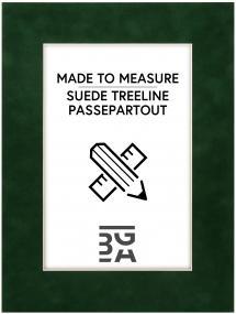 Egen tillverkning - Passepartouter Passe-partout Suede Treeline - Op maat gemaakt