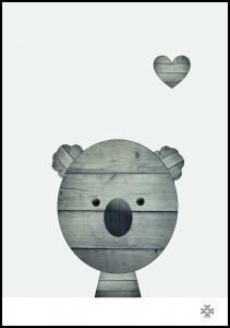 Bildverkstad Wood koala Poster