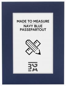 Egen tillverkning - Passepartouter Passe-partout Marineblauw - Op maat gemaakt (Witte kern)