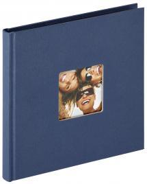 Walther Fun Album Blauw - 18x18 cm (30 Zwarte pagina's / 15 bladen)