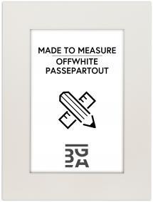 Egen tillverkning - Passepartouter Passe-Partout Off-white (Witte kern) - Op maat besteld