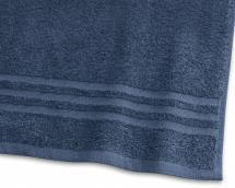 Borganäs of Sweden Badlaken Basic Badstof - Marine blauw 90x150 cm