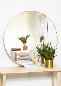 KAILA KAILA Round Mirror - Edge Gold 110 cm Ø