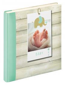 Walther Welcome Babyalbum Groen - 28x30,5 cm (50 Witte pagina's / 25 bladen)