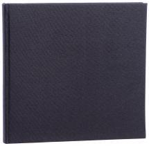 Focus Base Line Canvas Zwart 26x25 cm (80 Witte pagina's / 40 Bladen)