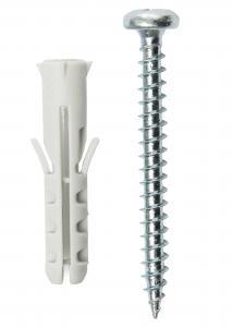 Hallmiba Schroeven en pluggen voor betonmuur - 5-pack (40x8 mm)