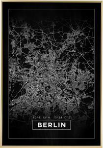 Bildverkstad Map - Berlin - Black Poster