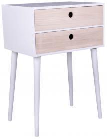 House Nordic Nachtkastje Rimini 32x45 cm - Wit/Hout