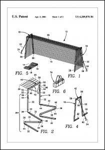 Bildverkstad Patent Print - Soccer Goal - White Poster