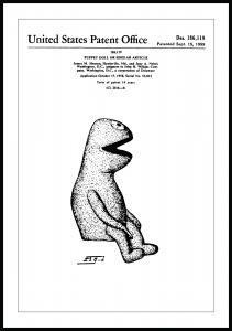 Bildverkstad Patenttekening - Muppets - Kermit I Poster
