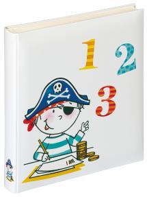 Walther Kinderalbum Piraat School - 28x30,5 cm (50 Witte pagina's / 25 bladen)