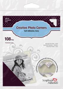 Focus 3L Creative Photo Corners Wit - 108 st