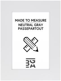 Egen tillverkning - Passepartouter Passepartout Neutral Grey - Op maat gemaakt