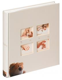 Walther Classic Bear Kinderalbum Crème - 28x30,5 cm (60 Witte pagina's / 30 bladen)