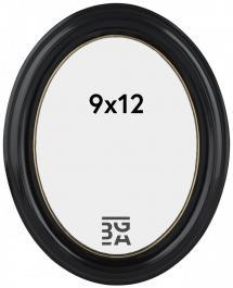 Eiri Mozart Ovaal Zwart 9x12 cm