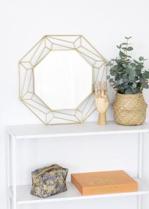 KAILA KAILA Spiegel Abstract - Goud 50x50 cm