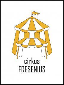 Personlig poster Cirkus Family Yellow