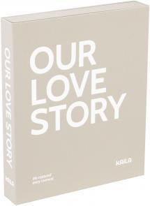 KAILA KAILA OUR LOVE STORY Grey - Coffee Table Photo Album (60 Zwarte pagina's)