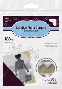 Focus 3L Creative Photo Corners Bruin - 108 st