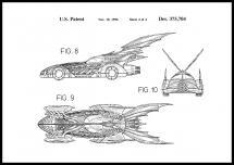 Bildverkstad Patenttekening - Batman - Batmobile 1996 IIII Poster