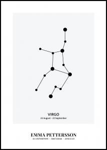 Personlig poster Virgo - Star Signs