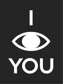 Bildverkstad I see you - Zwart met witte print Poster