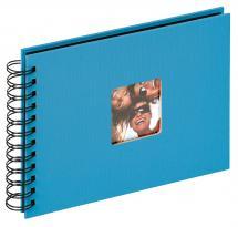 Walther Fun Spiraalalbum Zeeblauw - 23x17 cm (40 Zwarte pagina's / 20 bladen)