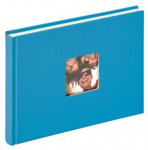 Walther Fun Album Zeeblauw - 22x16 cm (40 Witte pagina's / 20 bladen)