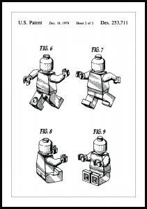 Lagervaror egen produktion Patenttekening - Lego II Poster