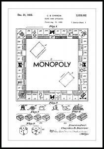 Bildverkstad Patenttekening - Monopolie I Poster