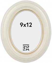 Eiri Mozart Ovaal Wit 9x12 cm