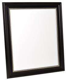 Spegelverkstad Spiegel Mora Zwart-Zilver - Eigen afmetingen