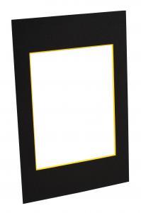 Passepartouter Måttbeställda Passe-partout Zwart (Gele kern) - Op maat gemaakt