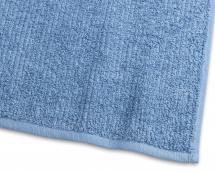 Borganäs of Sweden Badhanddoek Stripe Badstof - Middenblauw 65x130 cm