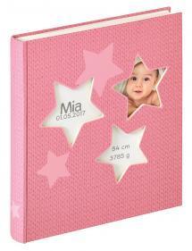 Walther Estrella Babyalbum Roze - 28x30,5 cm (50 Witte pagina's / 25 bladen)