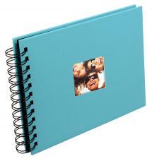 Walther Fun Spiraalalbum Turquoise - 23x17 cm (40 Zwarte pagina's / 20 bladen)