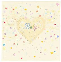 Innova Editions Premium Babyalbum - 25x25 cm (50 Witte pagina's / 25 bladen)